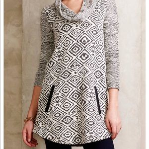 Anthropologie Konya Cowl neck Tunic